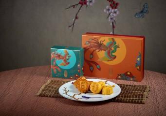 2件裝雙式月餅禮盒 (低糖蛋黃白蓮蓉月餅、迷你奶皇 各一件)